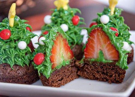 Brownies-cioccolato-fragole-natale