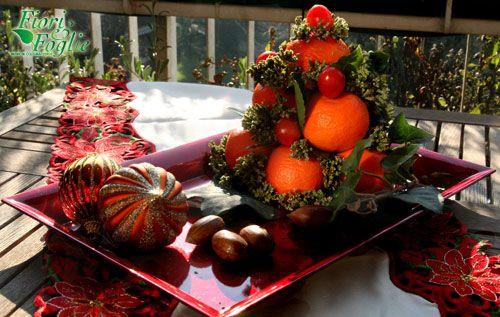Come creare un centrotavola natalizio profumato - Centro tavola con frutta ...
