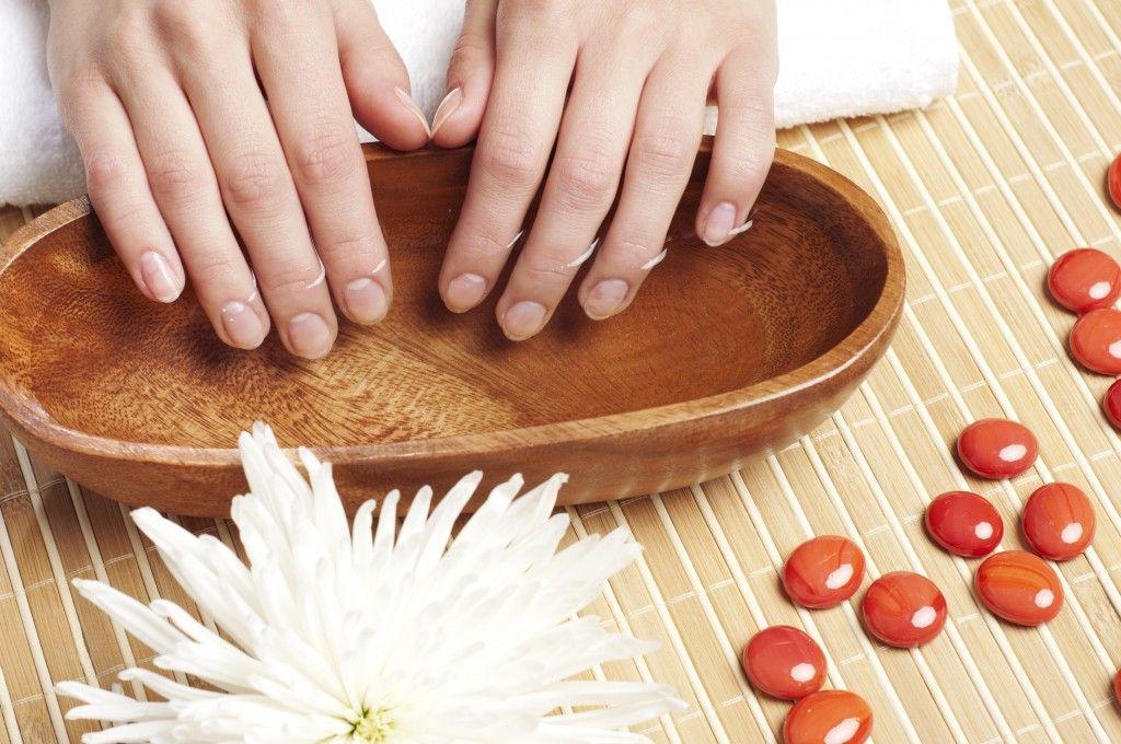 Hands Spa. Manicure concept