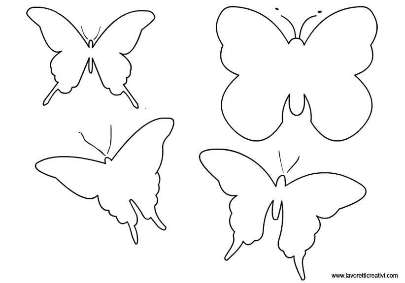 Personalizzare una lanterna di carta ecco come fare for Immagini farfalle da ritagliare