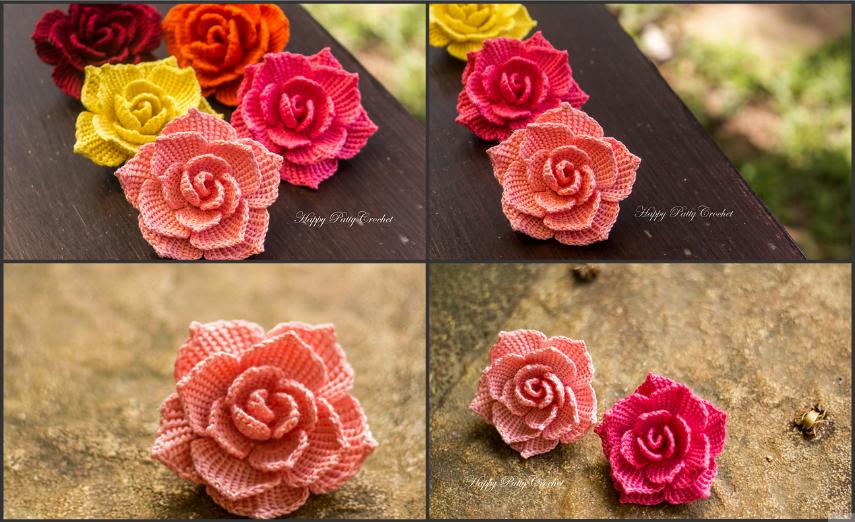 Rose-Flower-Applique