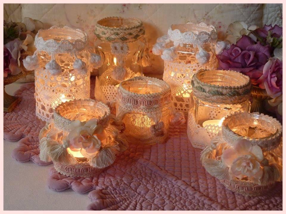 Porta candele fai da te in stile shabby bellissime ed - Decorare casa con candele ...