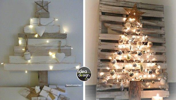 Poco spazio in casa? Ecco alcuni alberi di Natale da muro, fai da te